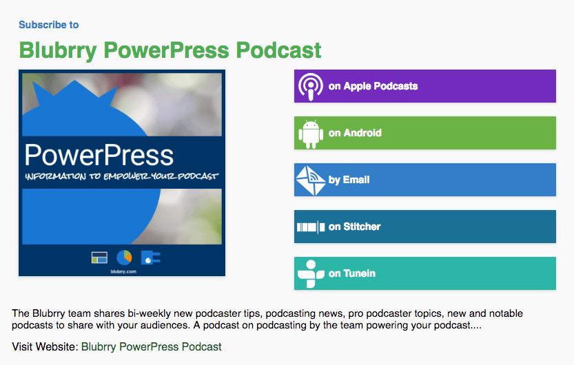 Blubrry PowerPress Podcast RSS Feed