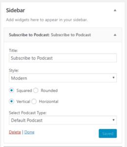PowerPress 8.0: subscribe sidebar options