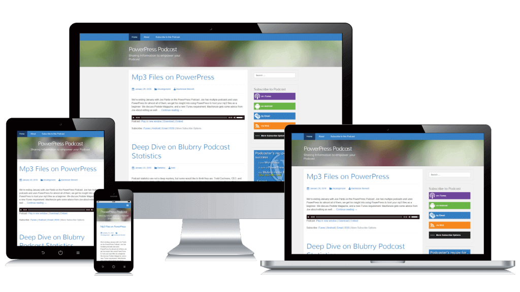 PowerPress Sites are available on any device.