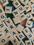 Random Scrabble letters